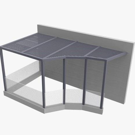 הדמיה של פרגולה מאלומיניום למרפסת